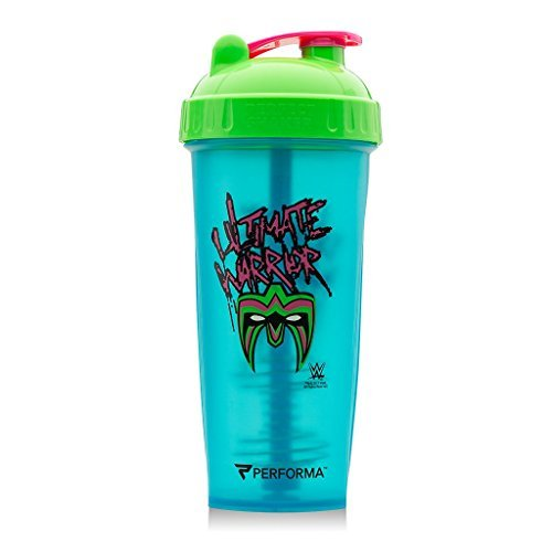 (PerfectShaker Performa - Ultimate Warrior WWE Shaker Bottle, Best Leak Free Bottle with Actionrod Mixing Technology for Your Sports & Fitness Needs! Dishwasher and Shatter Proof)