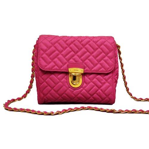 Prada Pink Quilted Chain Handbag (Chain Bag Prada)