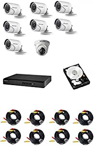 Hikvision CCTV Set with 8 Channel  DVR K1 Hard disk 1T 1 indoor Vari-focal cameras and 7 outdoor vari-focal camera and 8x40 meter cables 1280x720 P