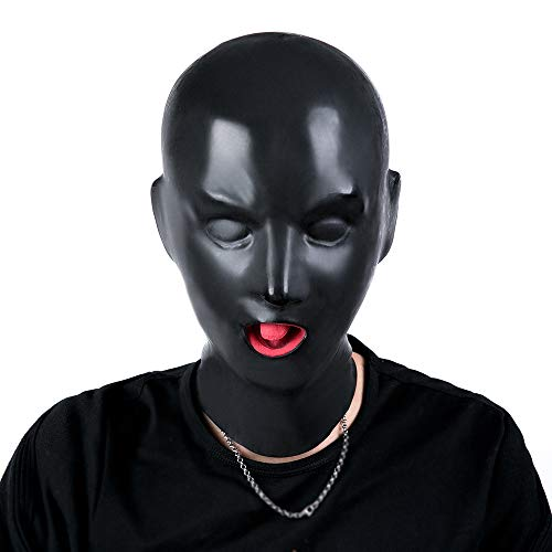 Yifei Latex Latex Rubber Hood Full Head Face Cosplay Club Beauty Mask (Men)]()