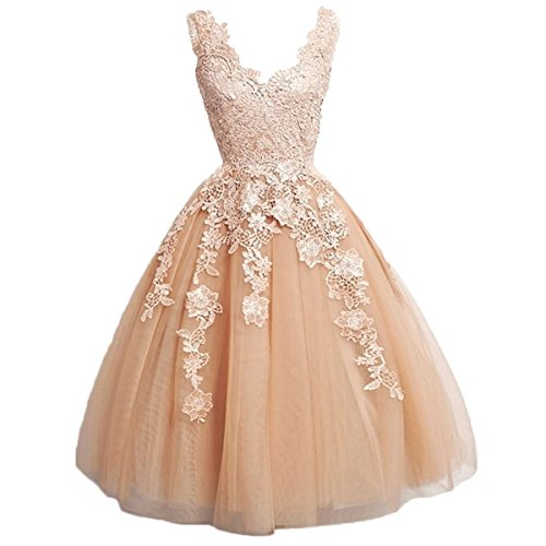 Kurz Tüll Mit Carnivalprom V Elegant Partykleider Applikationen Gold Damen Ballkleider Abendkleider Ausschnitt Sxw5AtZ