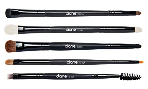 Diane 5-Piece Double-Sided Eye Makeup Brush Set