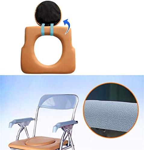 介護用ポータブルトイレ椅子 トイレ ポータブル 椅子 折りたたみ式 便器チェア 折畳可 アームレスト付き 軽量 コンパクト 大人用 老人用 妊娠中の女性