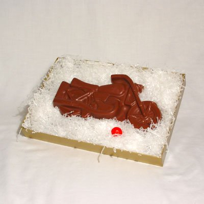 Solid Chocolate Motorcycle (1 piece) (Harley Davidson Gift Basket)