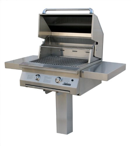 Solaire 30-Inch Infrared Natural Gas In-Ground Post Grill, Stainless ()