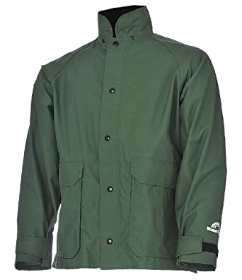 """WaterShed 935043-TGR-3XL StormShield Snap Storm Front Waterproof GORE-TEX Jacket with Bellows Pockets, 30"""" Length, 3XL, Forest Green"""