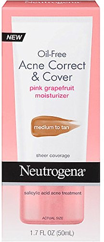 Oil-Free Acne Correct & Cover Pink Grapefruit Moisturizer by Neutrogena #10