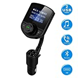 Best Car Bluetooth Adapters - Wireless in-Car Bluetooth FM Transmitter Radio Adapter Car Review