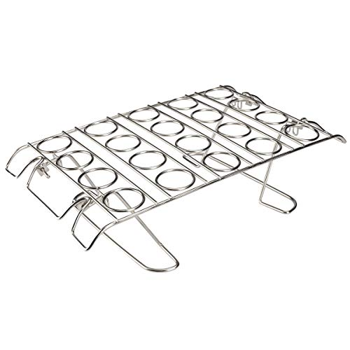 Cupcake Cone Baking Rack, Ice Cream Cone Stand Holder, Waffle Cone Holder,Stainless Steel,20 Capacity Foldable (1) ()