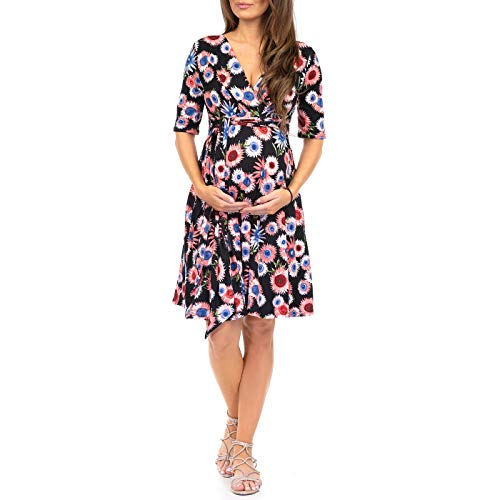 Women's Knee Length Wrap Dress with Belt - Made in USA
