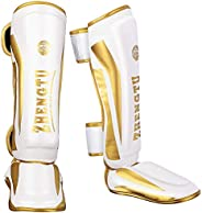ZHENGTU Boxing Shin Guards for Muay Thai Kickboxing MMA Fighting and Training Martial Arts Sparring Protective