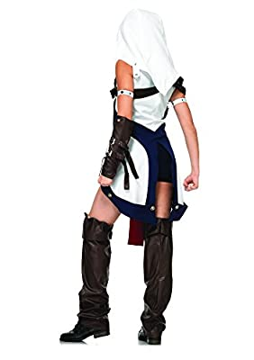 Leg Avenue Women's Assassin's Creed 6 Piece Connor Girl Deluxe Costume Cosplay