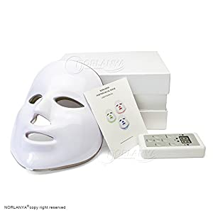 NORLANYA Photon Therapy Facial Skin Care Treatment Machine Facial Toning Wrinkle Remove LED Mask - Blue Red Green Photon Light - Control Board - Wall Plug