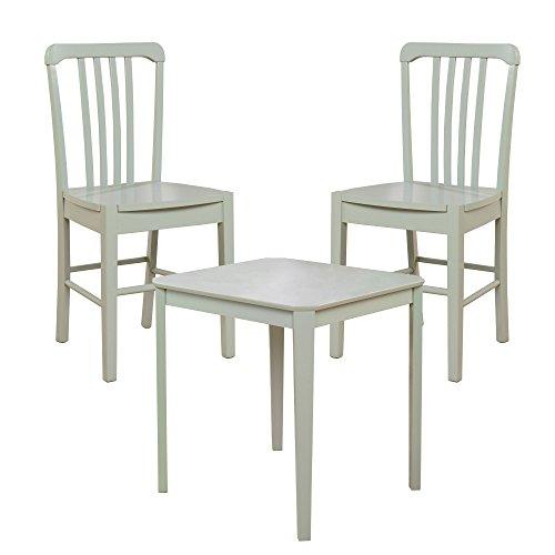 Sauder Furniture 415250 Original Cottage Rainwater Dining Table w/ 2 Slat Chairs