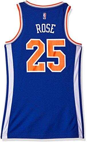 - NBA Women's New York Knicks Derrick Rose Replica Player Away Jersey, Medium, Blue