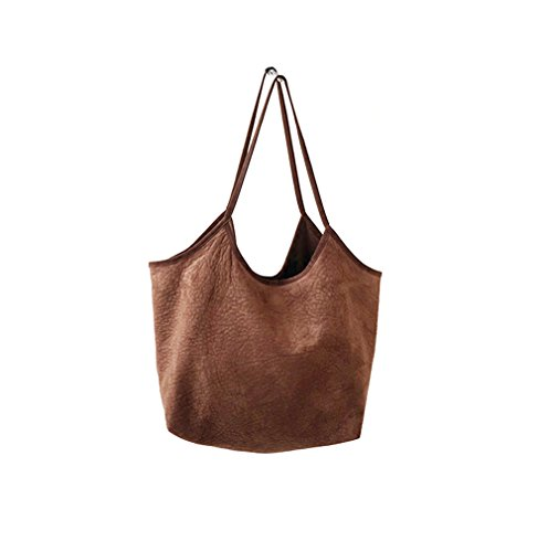 Dreams Mall(TM)Women's Soft Suede Shopper Tote Shoulder Bag Handbag
