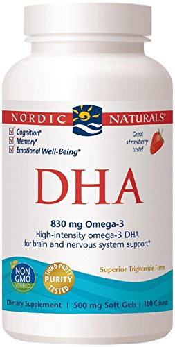 Nordic Naturals - DHA, Brain and Nervous System Support, 180 Soft Gels