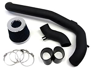 00-02 Pontiac Sunfire 2.2L Black Cold Air Intake Kit + Blue Filter / Black Hose 01
