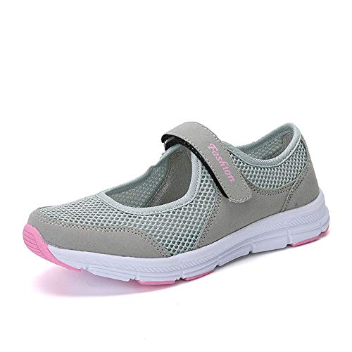 Women's Fashion Sneakers Breathable Sport Shoe Summer Sandals Casual Anti Slip Fitness Running Sports Shoes Gray
