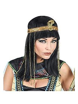 WIDMANN Srl peluca Buena suerte de Egipto con cinta para cabeza serpiente con Cuentas de mujer Adultos, Multicolor, wdm02089: Amazon.es: Juguetes y juegos