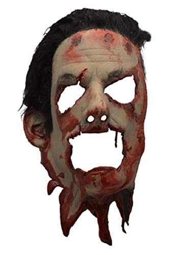 Trick Treat The Texas Chainsaw Massacre II Skin Face Mask w Hair Leatherface -