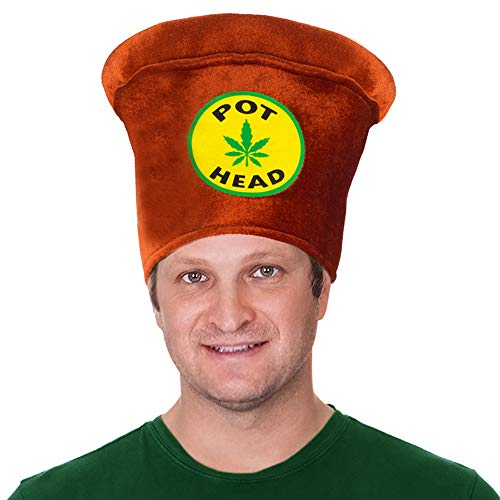 Tigerdoe Pot Head Costume - Stoner Costume Accessories - Novelty Hats - Costume Hat - Weed Costume - Marijuana Hat