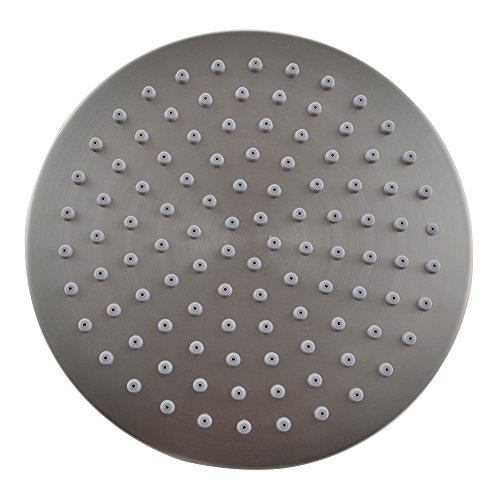 KES J203 ALL METAL 8-Inch Shower Head Fixed Mount Rainfall Style Stainless Steel, Brushed Nickel