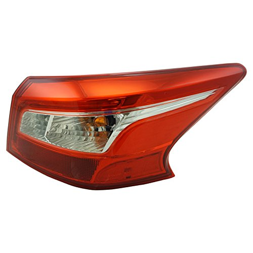 Outer Tail Light Lamp Assembly Passenger Side RH RR for Nissan Sentra ()
