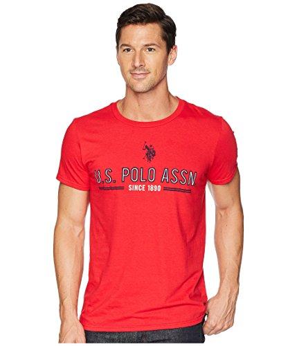 (U.S. Polo Assn. Men's Short Sleeve Crew Neck Fashion T-Shirt, Engine Red, XL)