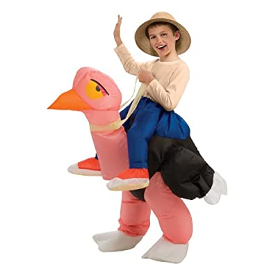 Big Boys' Inflatable Ostrich Costume, One Size for 5-7 Years: Toys & Games