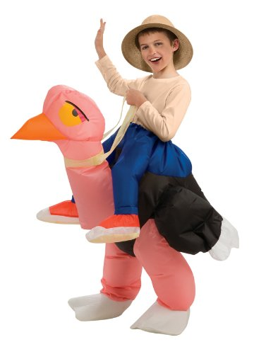 [Big Boys' Inflatable Ostrich Costume, One Size for 5-7 Years] (Dance Fans Costumes Accessories)