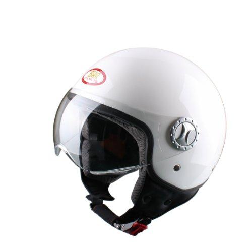 BHR Helm Demi-Jet, Weiß, 55-56 (S)