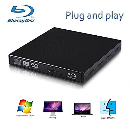 External Blu-ray Drives,Lvaen- External usb 2.0 blu-ray DVD CD drive/BD - ROM,High speed, play blu-ray disc, CD,DVD,perfect support xp/win7/win8/win10/Linux system (Best Virtual Cd Drive)