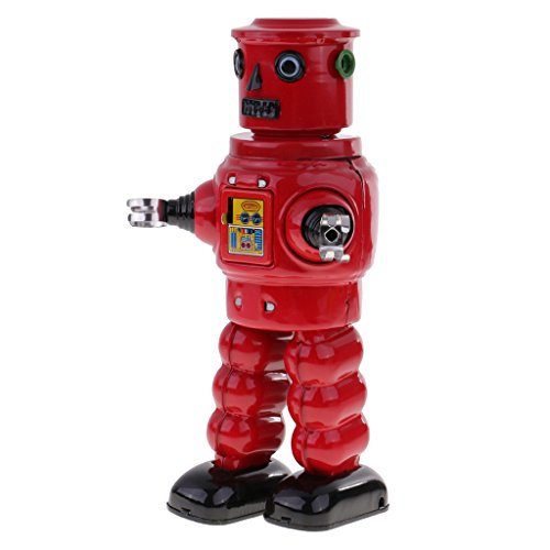 Designed Tin - Homyl Well-designed Wind Up Tinplate Robot Mechanism Model Clockwork Toy Desk Kits