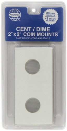Cent/Dime 2″ by 2″ Coin Mounts
