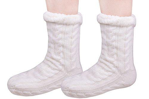 White Slipper Socks Home Socks Slipper Sock Shoe Socks for Women Size9-11 White