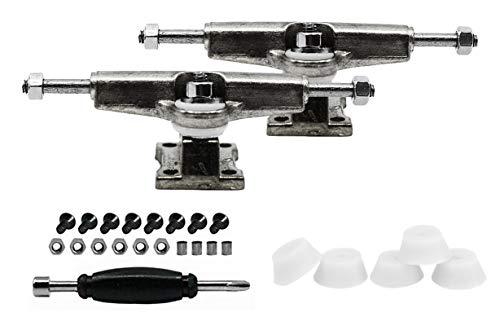 티크 조정 지판 스페이서 트럭 크롬 은을 포함한 세트의 5 흰색 거품 부싱-32MM 폭-조&립