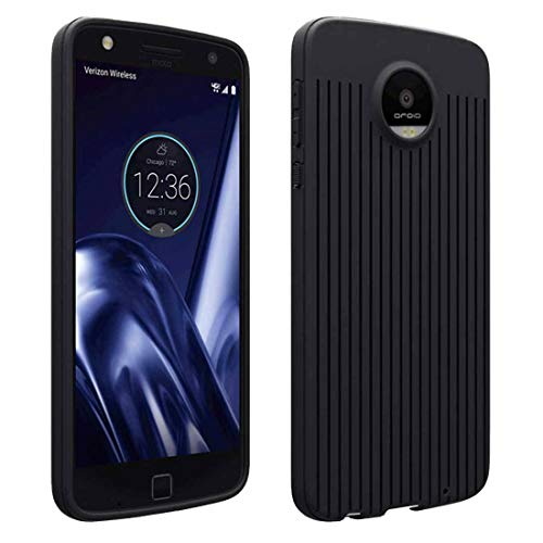 Moto Z Play Case, Rome Tech Liquid Silicone Gel Rubber Shockproof Case with Full Body Protection for Moto Z Play Droid - Black