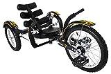 Mobo Cruiser Mobito Ultimate Three Wheeled Cruiser, Black, 16-Inch
