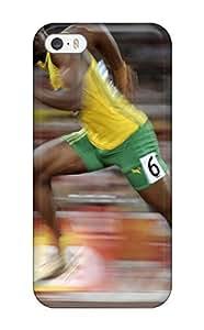 Best 4942007K22205448 Excellent Iphone 5/5s Case Tpu Cover Back Skin Protector Usain Bolt Running WANGJING JINDA