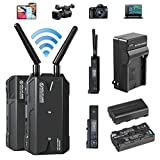 Hollyland Mars 300 PRO Enhanced with External Antennas 5G Wireless HDMI Video Transmission System,Transmitter and Receiver Kit Support HD 1080P 300 Feet for DSLR Camera with 2 Batteries/AC Charger