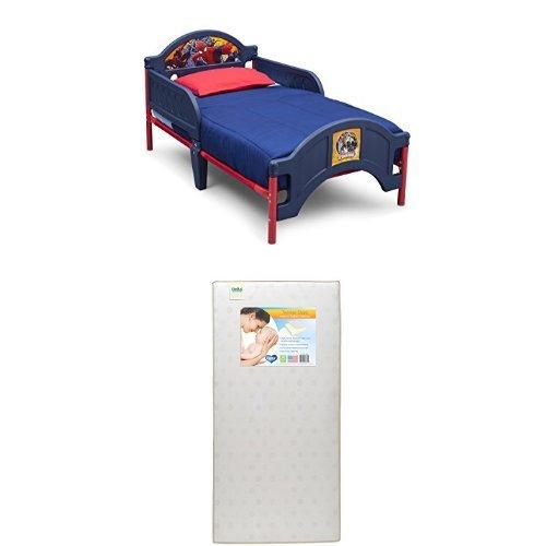 Delta Children Plastic Toddler Bed, Marvel Spider-Man  with Twinkle Stars Crib & Toddler - Toddler Bed Spiderman
