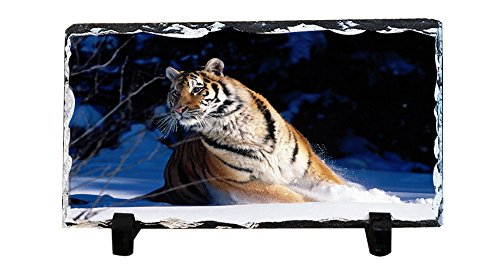 K.X.S Personalized Slate Desktop Decoration Plaque - Tiger Custom Photo (Tigers Slate)