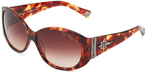 True Religion Sunglasses Madison Oversized Sunglasses, Amber Tort, 59 - True Sunglasses Religion