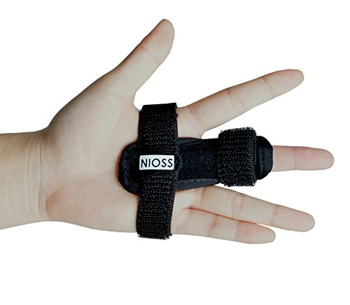 Compact Trigger Finger Splint Support Brace for Arthritis, Stenosing Tenosynovitis Hands & Straightening Curved, Bent, Locked Finger - Tendon Release & Pain Relief ()