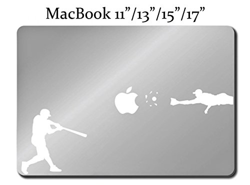 BASEBALL PLAYER Decal LAPTOP MACBOOK Mac Pro Air Sticker Batter Catch 11