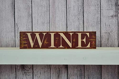 Wine Distressed Rustic 24