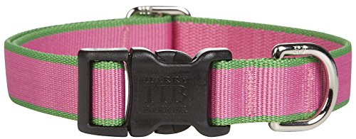 Harry Barker Chelsea Collar - Pink & Green - Small - 9-16 inch