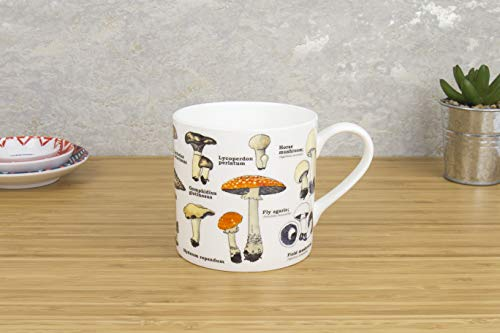 Gift Republic Multi Mushroom Bone China Ecologie Mug (Mushroom Cup)
