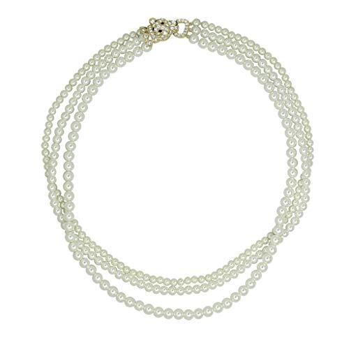 Swarovski Triple Strand Necklace - J'ADMIRE Swarovski Zirconia Triple Strand Pearl Necklace
